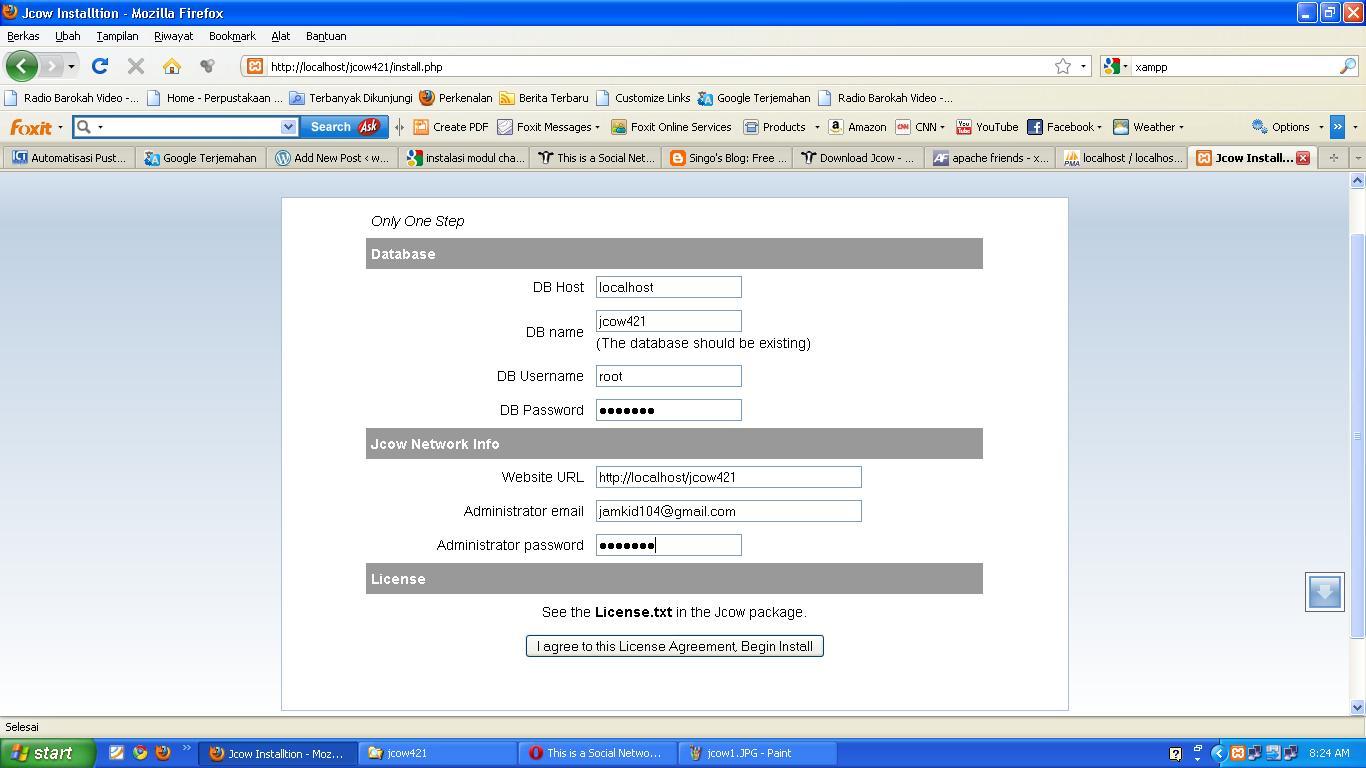 Membuat situs jejaring sosial dengan jcow 4.2.1  webkulo